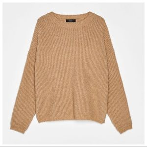 NWT. Bershka Beige Knit Sweater. Size S.